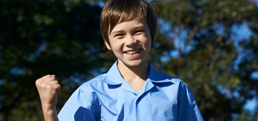 School uniform blue shirt